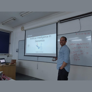 March 2019: Edmond J. Safra young forum meets with Guy Nadav of FDNA start-up