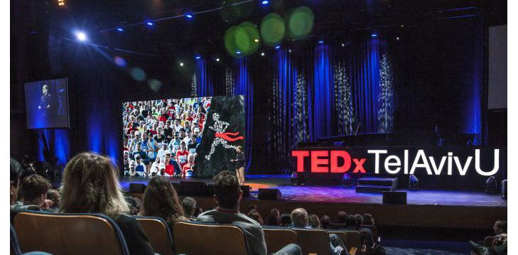 Prof. Noam Shomron (Medicine Faculty) giving a TEDx talk, Tel Aviv University (Photo courtesy of Gilad Adin)
